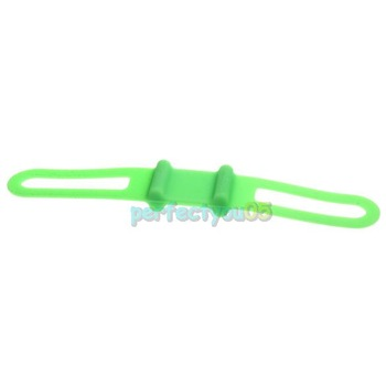 Bike Bicycle  Holder Mount Silicone Rubber Elastic Tie Strap Bandage Green PY5#