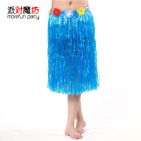 Hawaii hula skirt adult hula skirt set hula skirt dance clothes 60cm chromophous
