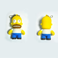 New Fashion Cartoon cute Simpsons Homer 4-32GB USB 2.0 Memory Drive Stick Pen / usb flash drive //Thumb/Car free shipping