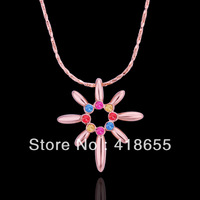 Freeshipping(Min.Order Is $15) 2013 Fashion necklaces wholesale 18k gold necklaces pendants crystal necklace for women N505