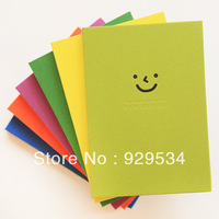 Free Shipping 2013 Euramerican Popularity Fashion Notepad South Korea Stationery Wholesale YF Love  Smile Pure Color Hard Copies