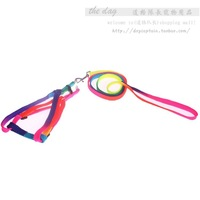 2014 popular Colorful b040124 thoracodorsal traction with dog rope rainbow color dog rope for pet