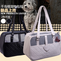 2014 fashion popular Houndstooth fashion pet bag dog pack cat pack teddy the dog portable pet bag