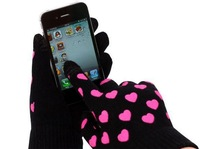 Heart offset touch screen control Touch control gloves gloves gloves factory wholesale touchscreen sensors
