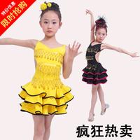 Kids Child children dancing performance wear costume stage clothes Latin leotard bell  suit uniforms