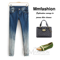 Autumn slim denim skinny pants pencil pants female