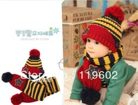 Free shipping Star children's cap new hat children's hat with scarf  hat003