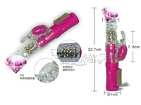 Adult sex products balls retractable stick female vibration dildo pumping dual shock