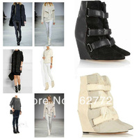 Pointed Toe Winter Boots Women,High Wedge Trendy Boots New Design,2013 Hot Sell Fur Boots