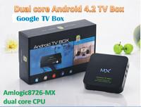 Dual Core CS838 MX2 Andriod 4.2 8GB Mini PC WiFi TV IPTV Box AML8726-MX DDR3 1G Android TV Box support 3G xbmc free shipping