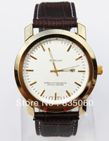 2013 New Fashion Casual Personality Quartz Watches Wristwatches with Leather Band Watches Free Shipping