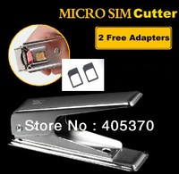 Wholesale Free Shipping New Micro Sim Card Steel Metal Cutter + 2 Free Sim Adapters for iphone 4 4s for ipad/for Samsung/for HTC