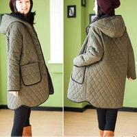 Maternity clothing maternity wadded jacket autumn and winter thickening goatswool maternity wadded jacket maternity outerwear