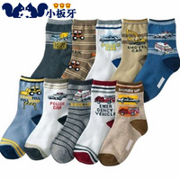 Small die 2013 autumn children's clothing cartoon car print child baby male child sock children socks 6573