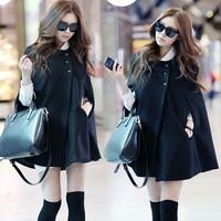 Fashion maternity clothing loose plus size maternity woolen outerwear maternity cloak woolen outerwear
