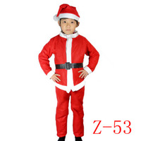 Christmas child performance wear santa claus clothes christmas installation