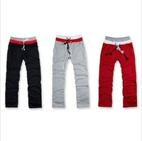 Free shipping,Hot Sale,2013 Fashion Brand Sports MENS CLASSIC STRAIGHT FLEECE SWEATPANTS,Stylish Rope Pants