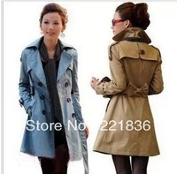 Free Shipping  The new women's clothing han edition fashion ladies double-breasted coat of cultivate one's morality