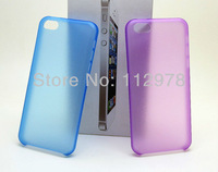 500pcs 5C Case For iphone 5C Case 0.3mm Ultra Thin TPU Matte Frost Case Cover Skin Half Transparent Soft Case Free Shipping