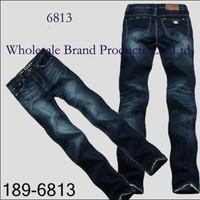 189 AX6813  Wholesale Popular Famous Name Jeans Man Regular Denim Pants Stylish Men Lovest