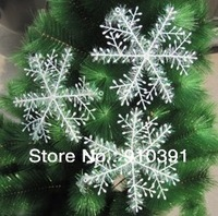 Free shipping 18CM white snowflake ornament Christmas decoration plastic snow sekka as Christmas tree decoration accessories.