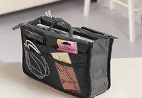 Dual Zipper Portable Multifunction Thicken Storage Bag Case Holder Black