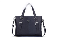 Free shipping 1 piece same with original genuine leather man handbags florence italy