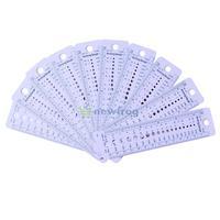 10Pcs Plastic Knitting Needle Gauge Ruler Tool Inch cm US UK Canada Sizes S7NF