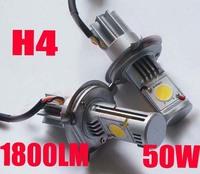 Brand New 12V 6000K Xenon White CAX 1512 Cree H4 LED Bulbs High or Low Light Headlight Bulb Super Bright DRL Fog Lights