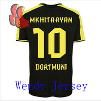 A+++ Germany FC Borussia Dortmund Top Men Thailand Away 10# Mkhitaryan 13 14 New Thai Camisetas De Futbol Jersey Custom