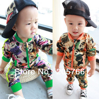colorful nice flower panda Crayon Shin-chan design children boy kid's hoodie sweater suit Free shipping wholesale