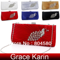Six Colors designer Girl Evening Purse clutch bags for women Wedding bag Bridal Party Handbag Free shipping GZ472