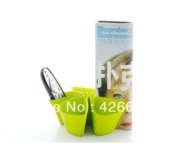 Wholesale TPE material  pen holder,office desk accessories organizer,cute storage box organizer,green colour refreshs your eyes