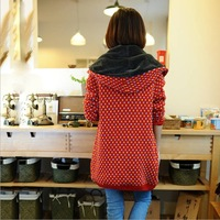 2014 New Arrival Winter clothes  Long Sleeve Women Hooded Sweather , Tops,Thicken Cardigan,Long sweather with Liner