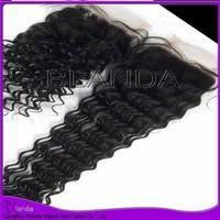 Brazilian virgin hair deep curly weave,free part lace closure with hair bundles,100% unprocessed hair,Grade 5A