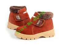 2013  Free shipping-new brand Genuine Leather boots Children's shoes Sneakers antiskid board shoes shoes boy and girl shoes M102