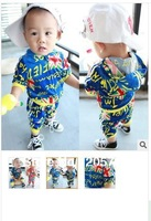 Free shipping wholesale children's wear kids garment boy's hoodie USA national flag design suit