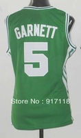 Free Shipping,#5 Kevin Garnett Women's Basketball Jersey,Sports Jersey,Embroidery logos,Size S--2XL