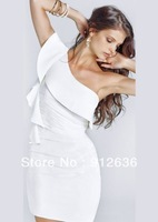 Completely Natural and Feel Real One Shoulder White Sexy Party Dress Lingerie