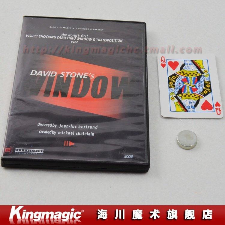 2009 WINDOW by David Stone with DVD Change A Card Thru Glass Magic magic toys magic tricks magic props(China (Mainland))