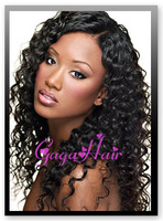 "Top Quality Celebrity Wig In Stock Full Lace Wig  20"" #1 Deep Wave 100% Brazilian Virgin Huamn Hair Full Lace Wigs Free Shipping"