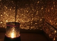 Amazing Flashing Star Master Lighten LED Projector Night Light Lamp star sky rotating and music function