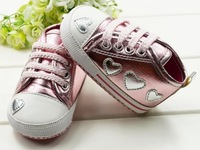 Retail free shipping 1 year baby first walkers infantil girl sapatos kids 2013 new sequin heart girls girl shoes for kids