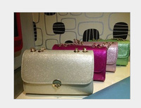 Free Shipping 2013 New Fashion Light Flashing Jelly Women Handbag Chain Korean Style Shoulder Bag Mini Bags B0742