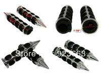 "CHROME SPIKE 1"" HAND GRIPS for Yamaha FZR YZF 600 R6 R1 VMax Virago 250 535 750"