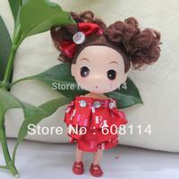 New 2014 Wholesale(20pcs/lot) 12CM Very Cute Girl With Tutu Dress Vinyl Ddung Doll Phone Chain 1629