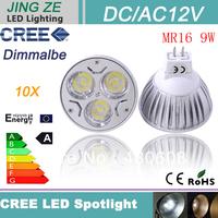 30X High Power GU5.3 ( MR16) 9W manufacturers  China Led Spot Light DC/AC 12V  free shipping