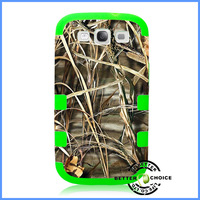 Hotsale New Dual-layer Watertransfer Printing Max-4 Realtree Camo Case Cover for Samsung Galaxy S3 I9300, Free Shipping
