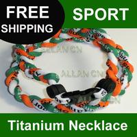 """Sale! 16""""18""""20""""22""""cheap sports titanium necklace Tornado Titanium 3 Ropes Twist Sport Necklaces"""