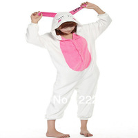Performance Kigurumi Pajamas Animal halloween Cosplay Costume Fleece little white rabbit cartoon sleepwear Free shipping  0944-3
